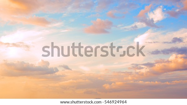 Beautiful sky with cloud  before sunset