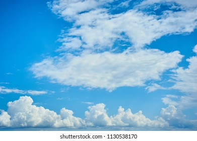 Beautiful sky with clouds. Nature composition. Place for text