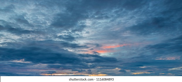Beautiful sky in the evening,with empty space
