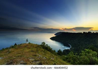 beautiful sky in Lake Toba,,North Sumatra