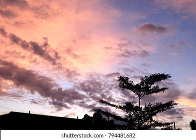 beautiful sky on sunrise time