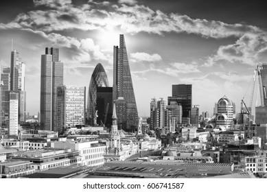 Beautiful sky over London.
