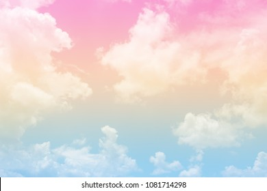 Beautiful of sky with a pastel colored for background