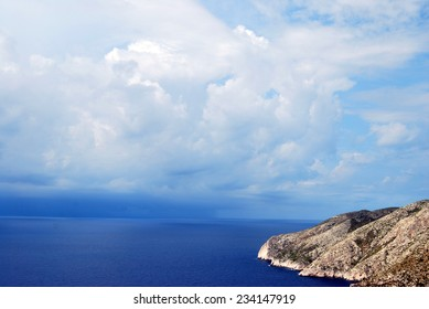 Beautiful sky and sea from Greece