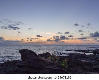 Beautiful sky and sea in mediterranean landscape in Pantelleria island
