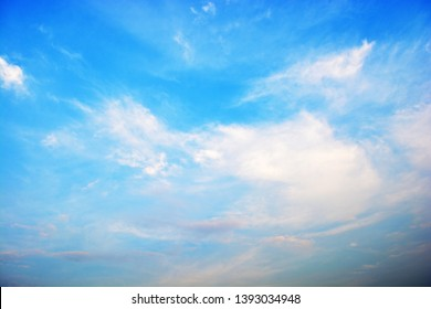 Beautiful sky with soft cloud.