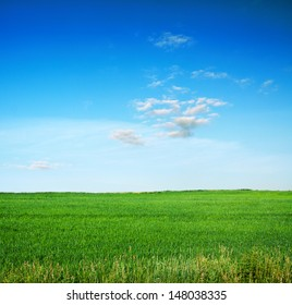 beautiful sky and summer fields