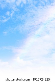a beautiful sky with this colorful rainbow
