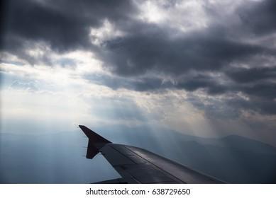 Beautiful Sky through plane window