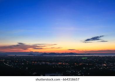 Beautiful sky at  twilight times