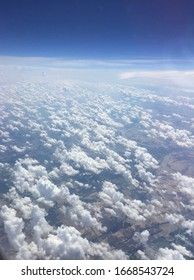 Beautiful sky view above clouds