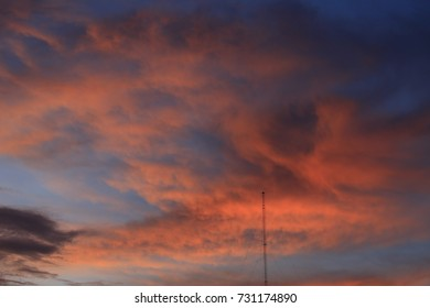 Beautiful sky with white cloud. Background.