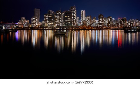 Beautiful skyline by the water in Vancouver BC