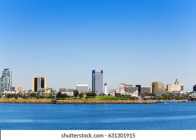 Beautiful skyline of Long Beach downtown, LA, USA