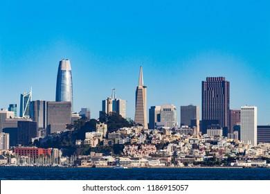 Beautiful skyline of San Francisco