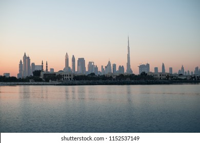 Beautiful skyline view of Dubai