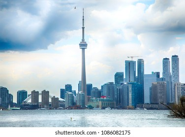 Beautiful Skyline view of Toronto downtown, Ontario, Canada