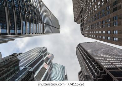 Beautiful skyscraper reaching the sky in Chicago