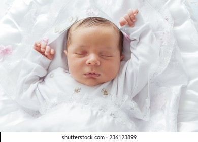A Beautiful Sleeping Little New Born Baby