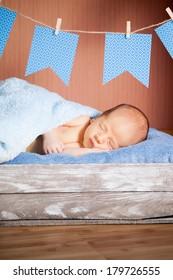 beautiful sleeping newborn baby