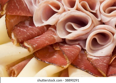 Beautiful sliced food arrangement close-up photo