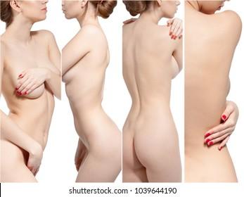 Beautiful slim naked woman
