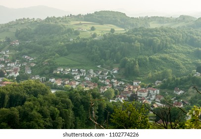 beautiful Slovenia landscape form the hill in Rogaska Slatina