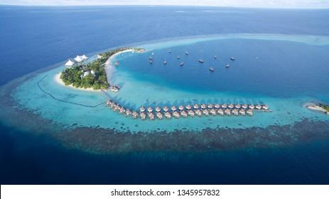 Beautiful small Island at the maledives