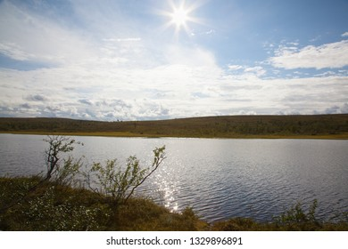 Beautiful small lake on Puljutunturi fell on Lapland Finland. These small ponds are fantastic places for fishing while camping on the shore