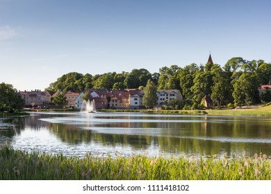 Beautiful small old town Talsi in Latvia