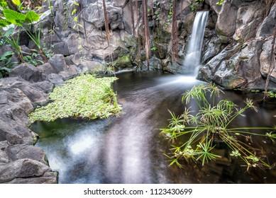 Beautiful small watenfall on Tenerife