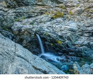 a beautiful small waterfall at samothrace