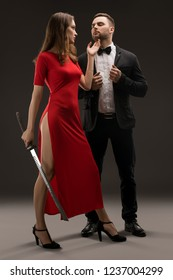 Beautiful smartly dressed couple shot