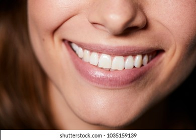 Beautiful smile in close up