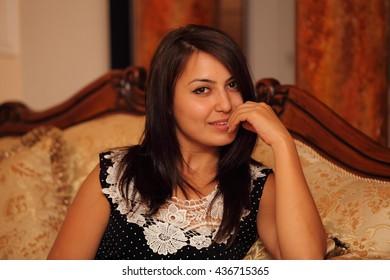 beautiful smile of the beautiful girl