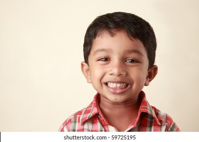 Beautiful smile of a small boy