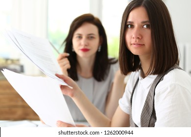 Beautiful smiling businesswoman portrait at workplace look in camera. White collar worker at workspace, exchange market job offer irs certified public accountant internal revenue officer concept