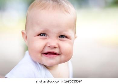 Beautiful smiling cute baby girl