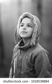Beautiful smiling cute boy, Portrait of hansome child outdoors