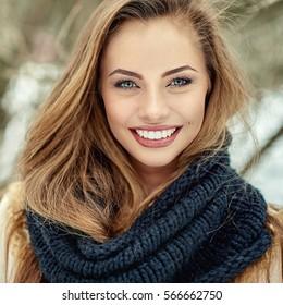 Beautiful smiling girl - close up
