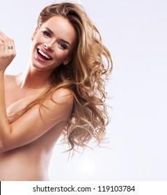 Beautiful smiling woman in pregnant