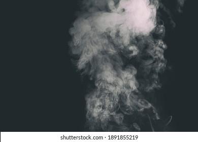 Beautiful smoke in the dark room
