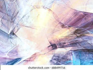 Beautiful smoke with lighting effect. Abstract soft color background. Dynamic painting texture. Modern futuristic shiny pattern. Fractal artwork for creative graphic design