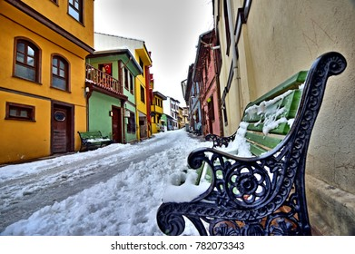 Beautiful Snow Landscape City in Winter season, in Eskisehir, Turkey