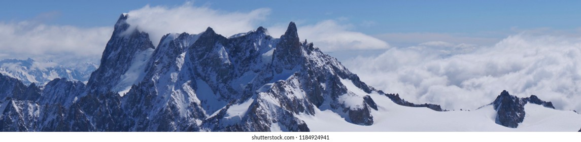 Beautiful snow mountains scenery of alpine Alps