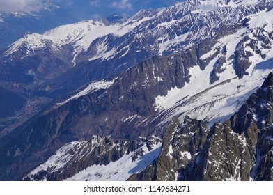Beautiful snow mountains view in summer