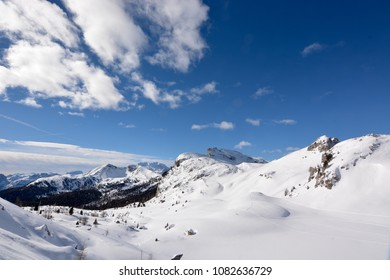 The beautiful snow-covered mountain