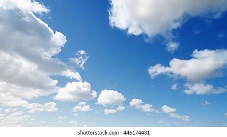 Beautiful soft clouds on blue sky background
