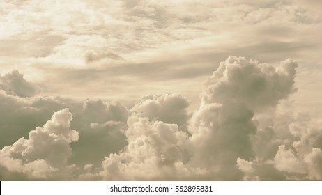 Beautiful soft cloudy and sky background, vintage tone