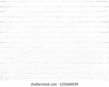 The Beautiful soft Color of Brick Wall Texture as Background, White Wall